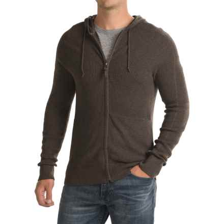 Royal Robbins All-Season Hooded Sweater - Merino Wool, Full Zip (For Men) in Petrified Oak - Closeouts