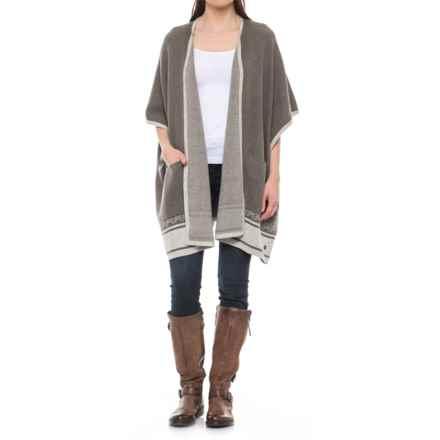 Royal Robbins All-Season Merino Wrap Sweater - Merino Wool (For Women) in Turkish Coff - Closeouts