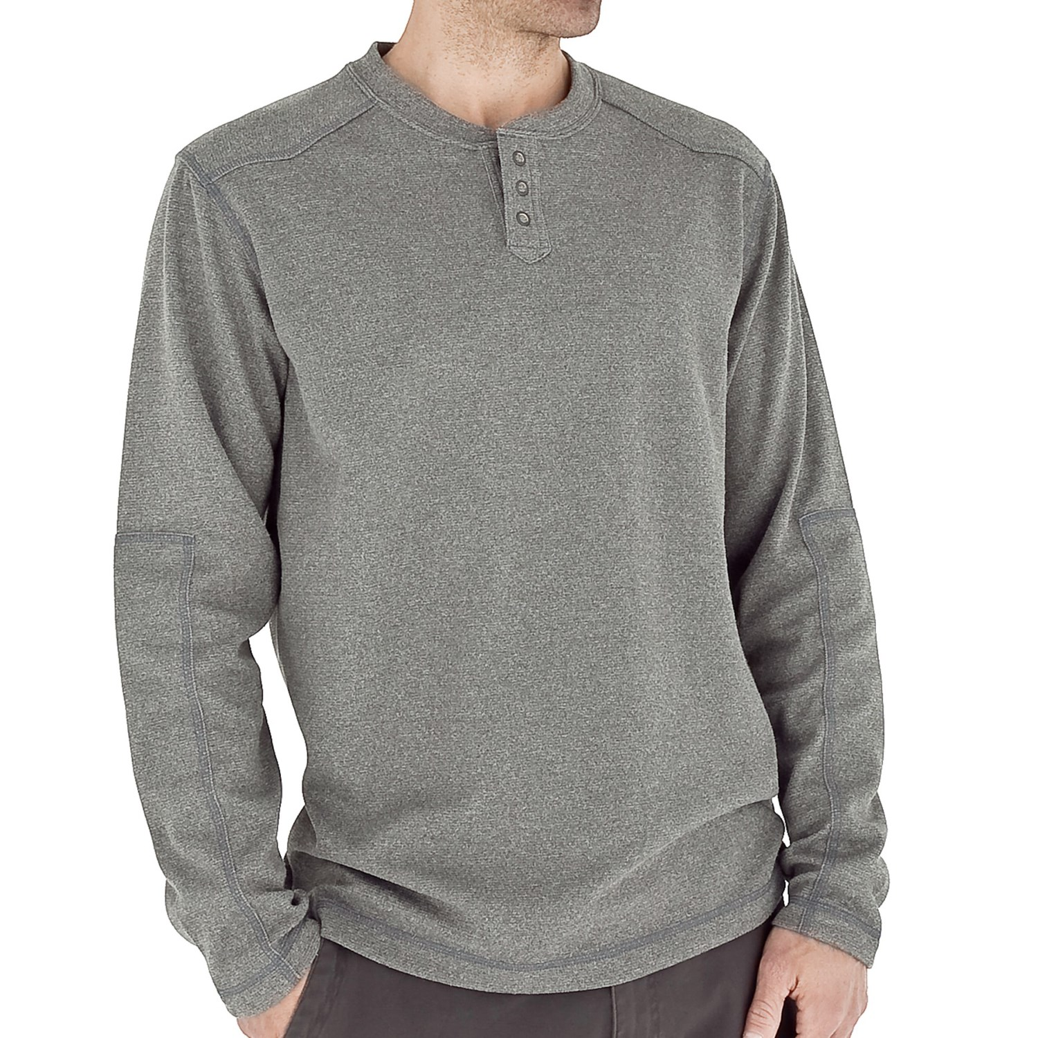 Royal robbins alpine thermal henley shirt upf 50 long for Men s thermal henley long sleeve shirts