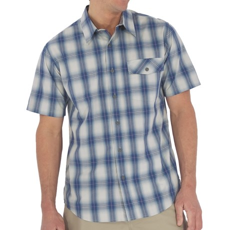 Royal Robbins Andale Plaid Shirt - Short Sleeve (For Men) in Bottom Blue