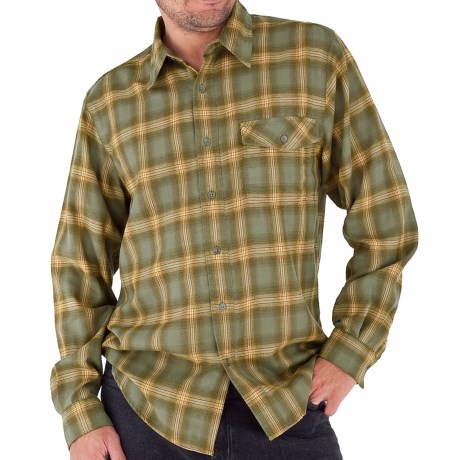 Royal Robbins Arriba Flannel Shirt - UPF 30+, Long Sleeve (For Men) in Canopy