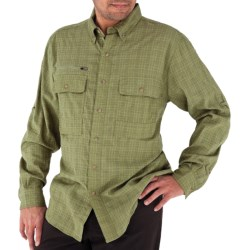 Royal Robbins Austin Pass Plaid Shirt - Long Sleeve (For Men) in Straw