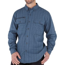 Royal Robbins Austin Pass Plaid Shirt - Long Sleeve (For Men) in Eclipse