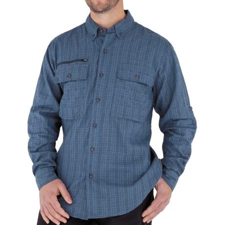 Royal Robbins Austin Pass Plaid Shirt - Long Sleeve (For Men) in Aloe