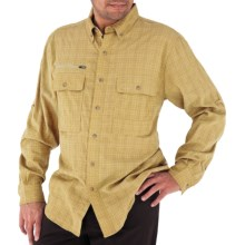 Royal Robbins Austin Pass Plaid Shirt - Long Sleeve (For Men) in Straw - Closeouts