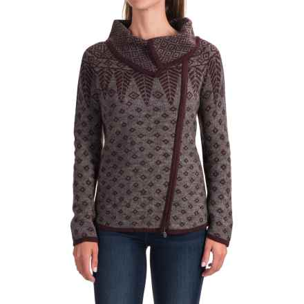 Royal Robbins Autumn Pine Cardigan Sweater - Zip Front (For Women) in Beet - Closeouts