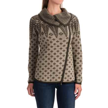 Royal Robbins Autumn Pine Cardigan Sweater - Zip Front (For Women) in Dark Olive - Closeouts