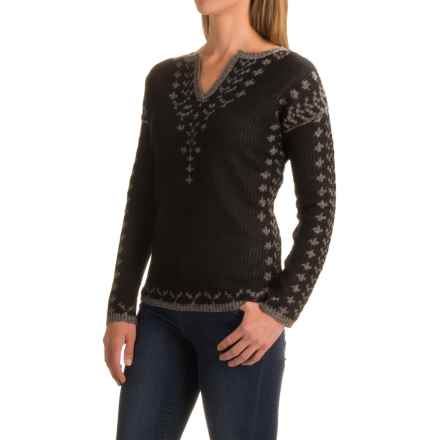 Royal Robbins Autumn Pine Reversible Sweater - V-Neck (For Women) in Jet Black - Closeouts