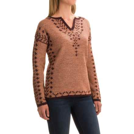 Royal Robbins Autumn Pine Reversible Sweater - V-Neck (For Women) in Pale Coral - Closeouts