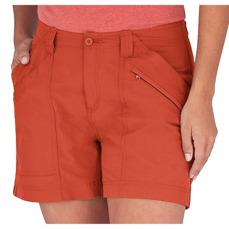 Royal Robbins Backcountry Shorts - UPF 50+ (For Women) in Chili