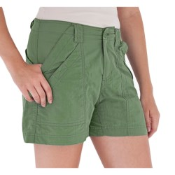Royal Robbins Backcountry Shorts - UPF 50+ (For Women) in Chive