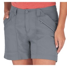 Royal Robbins Backcountry Shorts - UPF 50+ (For Women) in Light Slate - Closeouts