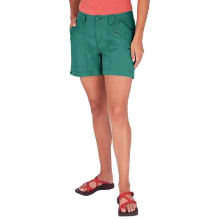 Royal Robbins Backcountry Shorts - UPF 50+ (For Women) in Sea Glass Green - Closeouts