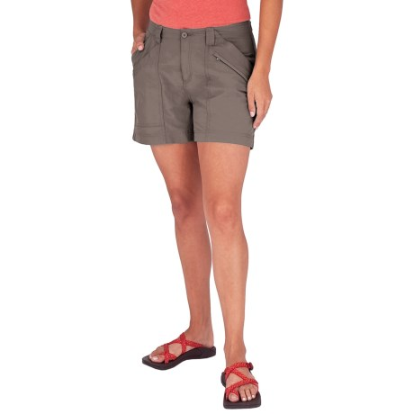 Royal Robbins Backcountry Shorts - UPF 50+ (For Women) in Taupe