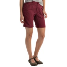"Royal Robbins Backcountry Walker Shorts - UPF 50+, Supplex® Nylon, 8"" (For Women) in Black Cherry - Closeouts"