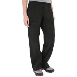 Royal Robbins Backcountry Zip 'N Go Convertible Pants - UPF 50+ (For Women) in Jet Black