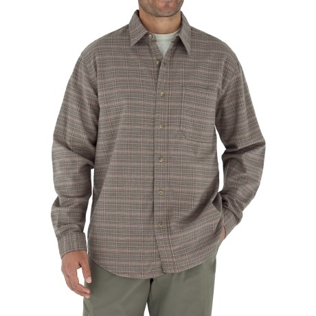 Royal Robbins Banks Island Plaid Shirt - UPF 50+, Long Sleeve (For Men) in Khaki