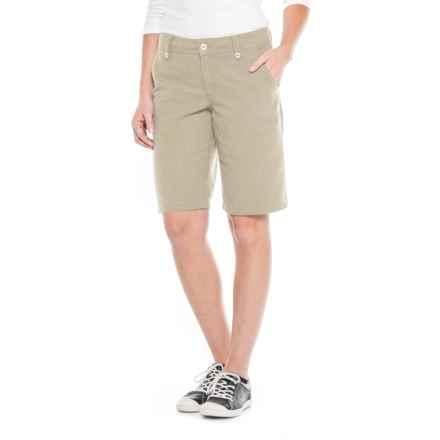 "Royal Robbins Bay Breeze Shorts - Hemp Blend, 11"" (For Women) in Light Khaki - Closeouts"