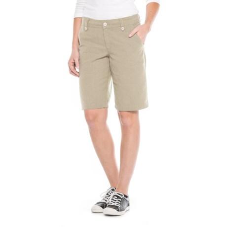 "Royal Robbins Bay Breeze Shorts - Hemp Blend, 11"" (For Women) in Light Khaki"
