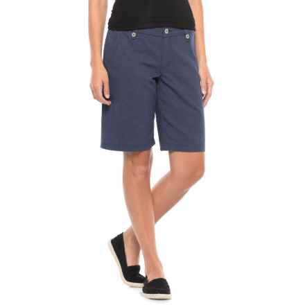 "Royal Robbins Bay Breeze Shorts - Hemp Blend, 11"" (For Women) in Navy - Closeouts"