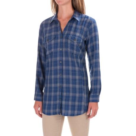 Royal Robbins Beechwood Plaid Shirt - UPF 50+, Long Sleeve (For Women) in Twilight Blue