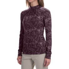 Royal Robbins Belle Rosa Shirt - Mock Neck, Long Sleeve (For Women) in Blackberry - Closeouts