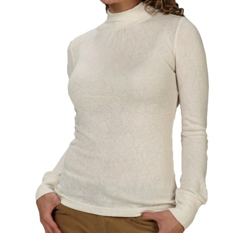 Royal Robbins Belle Rosa Shirt - Mock Neck, Long Sleeve (For Women) in Creme
