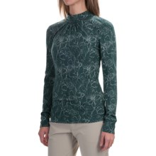 Royal Robbins Belle Rosa Shirt - Mock Neck, Long Sleeve (For Women) in Dark Blizzard - Closeouts
