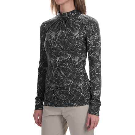 Royal Robbins Belle Rosa Shirt - Mock Neck, Long Sleeve (For Women) in Jet Black - Closeouts