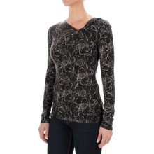 Royal Robbins Belle Rosa Twist Neck Shirt - Long Sleeve (For Women) in Jet Black - Closeouts