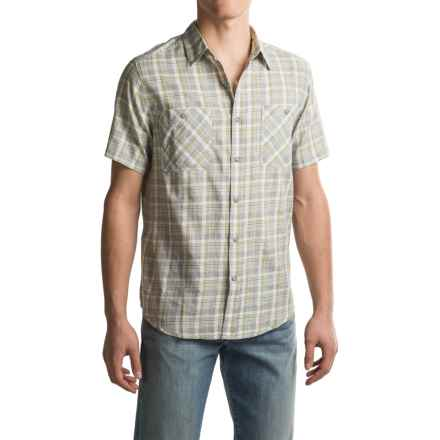 Royal Robbins Biscayne Bay Plaid Shirt - Short Sleeve (For Men) in Light Pewter - Closeouts