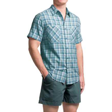 Royal Robbins Biscayne Bay Plaid Shirt - Short Sleeve (For Men) in Tide Pool - Closeouts