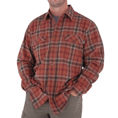 Royal Robbins Blackrock Plaid Shirt - Long Sleeve (For Men) in Ember