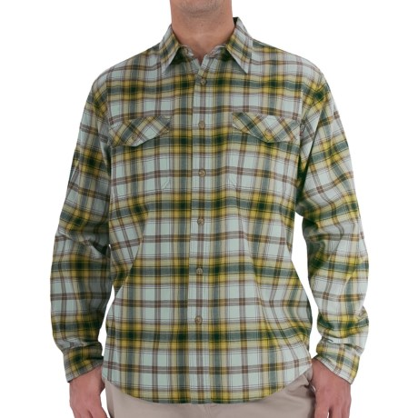 Royal Robbins Blackrock Plaid Shirt - Long Sleeve (For Men) in Curry