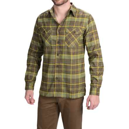 Royal Robbins Boulder Plaid Shirt - UPF 50+, Long Sleeve (For Men) in Mangrove Green - Closeouts