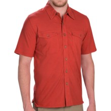 Royal Robbins Breeze Thru Button Front Shirt - Cotton-Linen, Short Sleeve (For Men) in Brick - Closeouts