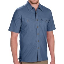 Royal Robbins Breeze Thru Button Front Shirt - Cotton-Linen, Short Sleeve (For Men) in Ink - Closeouts