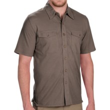 Royal Robbins Breeze Thru Button Front Shirt - Cotton-Linen, Short Sleeve (For Men) in Taupe - Closeouts