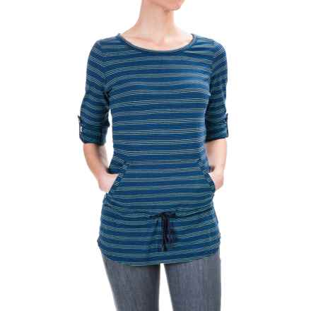 Royal Robbins Breeze Thru Stripe Cover Shirt - UPF 25+, Long Sleeve (For Women) in Deep Blue - Closeouts