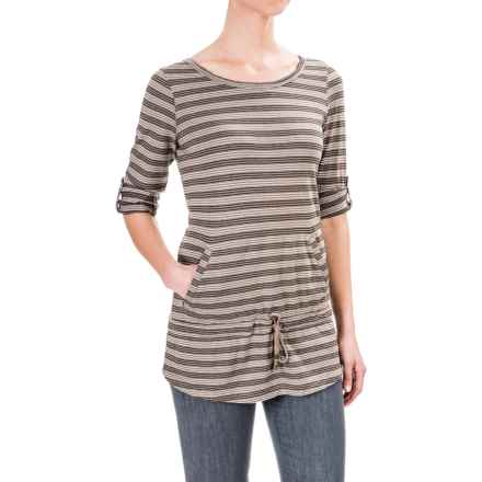 Royal Robbins Breeze Thru Stripe Cover Shirt - UPF 25+, Long Sleeve (For Women) in Light Taupe - Closeouts