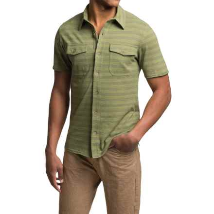 Royal Robbins Breeze Thru Stripe Shirt - UPF 40+, Short Sleeve (For Men) in Aloe - Closeouts