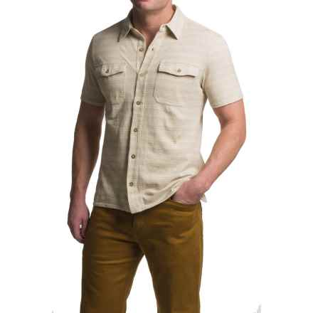 Royal Robbins Breeze Thru Stripe Shirt - UPF 40+, Short Sleeve (For Men) in Light Khaki - Closeouts