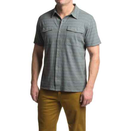 Royal Robbins Breeze Thru Stripe Shirt - UPF 40+, Short Sleeve (For Men) in Slate - Closeouts