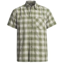 Royal Robbins Bridgeport Plaid Shirt - UPF 40+, Short Sleeve (For Men) in Aloe - Closeouts