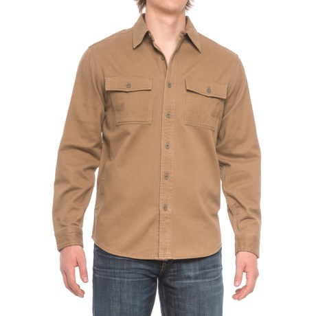 Royal Robbins Brushed Back Work Shirt - UPF 50+, Long Sleeve (For Men) in Cocoa