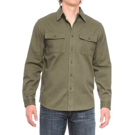 Royal Robbins Brushed Back Work Shirt - UPF 50+, Long Sleeve (For Men) in Loden - Closeouts