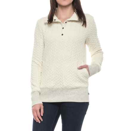 Royal Robbins Cable Mountain Quilted Sweater - UPF 50+ (For Women) in Creme - Closeouts