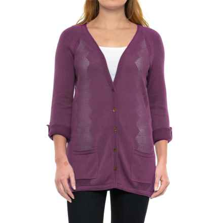 Royal Robbins Calaveras Cardigan Sweater (For Women) in Plum Wine - Closeouts