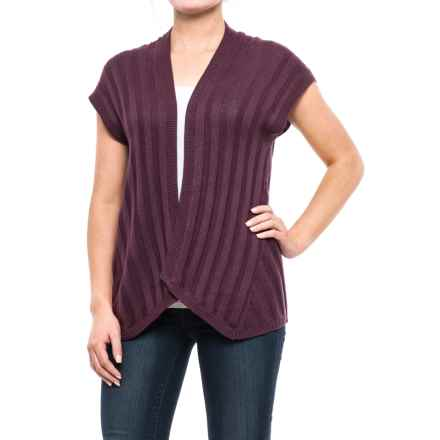 Royal Robbins Calaveras Open-Front Cardigan Sweater - Short Sleeve (For Women) in Plum Wine - Closeouts