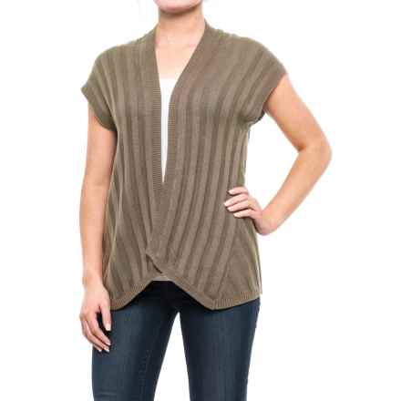 Royal Robbins Calaveras Open-Front Cardigan Sweater - Short Sleeve (For Women) in Taupe - Closeouts